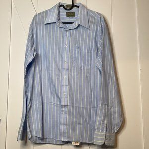 Givenchy vintage men baby blue striped button down